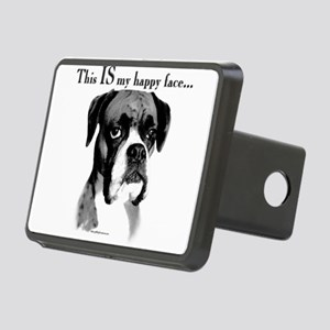 Boxer Happy Face Rectangular Hitch Cover