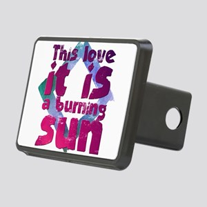 This love it is a burning Rectangular Hitch Cover