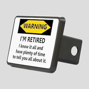 Warning, I'm Retired Rectangular Hitch Cover