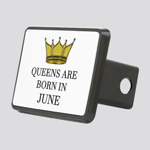 Queens Are Born In June Rectangular Hitch Cover