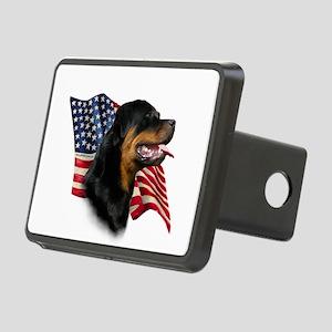RottweilerFlag Rectangular Hitch Cover