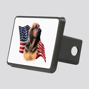 BloodhoundFlag Rectangular Hitch Cover