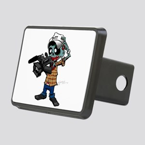 Zombie Camera Man Pitt Rectangular Hitch Cover