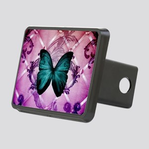 cute hipster girly butterf Rectangular Hitch Cover
