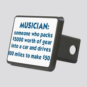MUSICIAN: SOMEONE WHO PACK Rectangular Hitch Cover