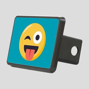 Winky Tongue Emoji Rectangular Hitch Cover