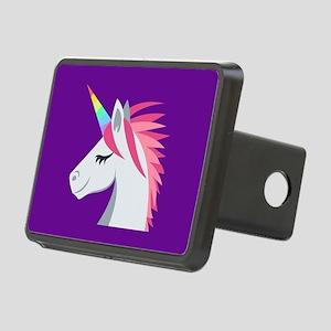 Unicorn Emoji Rectangular Hitch Cover