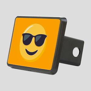 Sunglasses Emoji Rectangular Hitch Cover