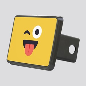Winky Tongue Emoji Face Rectangular Hitch Cover