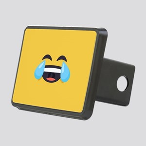 Cry Laughing Emoji Face Rectangular Hitch Cover