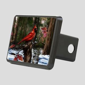 cardinal bird art Rectangular Hitch Cover