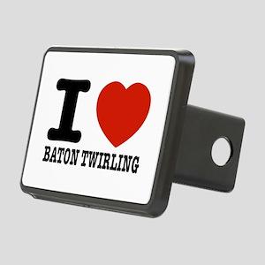 I love Baton Twirling Rectangular Hitch Cover