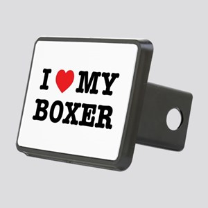 I Heart My Boxer Rectangular Hitch Cover