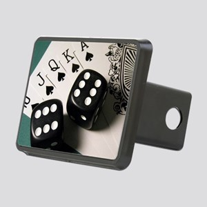 Cards And Dice Rectangular Hitch Cover