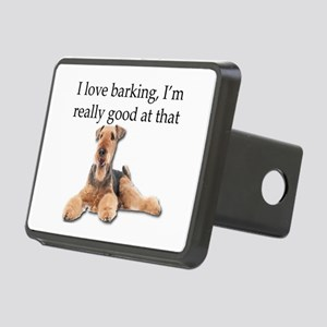 Airedale Terrier is Really Rectangular Hitch Cover