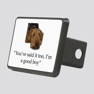Sulking Airedale Terrier G Rectangular Hitch Cover