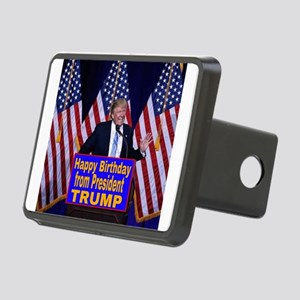 Happy Birthday from Presid Rectangular Hitch Cover