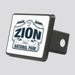 Zion National Park Blue Sign Rectangular Hitch Cov