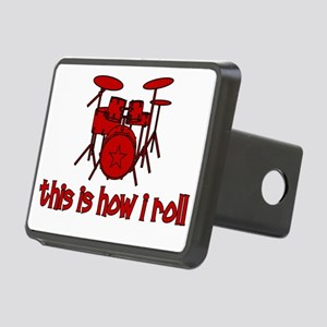 drums_thisishowiroll Rectangular Hitch Cover