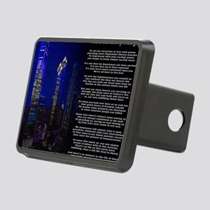The Finish Line of Victory Rectangular Hitch Cover
