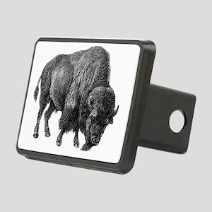 Vintage Bison Rectangular Hitch Cover
