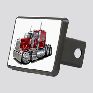 Kenworth W900 Maroon Truck Rectangular Hitch Cover