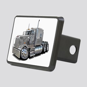 Kenworth W900 Silver Truck Rectangular Hitch Cover