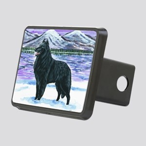 bel shep snow Rectangular Hitch Cover