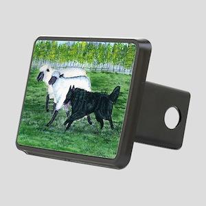 bel shep herd Rectangular Hitch Cover