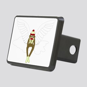 Sock Monkey Guardian Angel Rectangular Hitch Cover