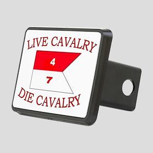 4th Squadron 7th Cavalry c Rectangular Hitch Cover