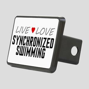 Live Love Synchronized Swimming Rectangular Hitch