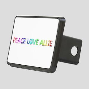 Peace Love Allie Rectangular Hitch Cover