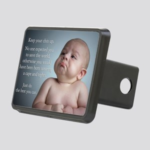 just do the best you can 8 Rectangular Hitch Cover