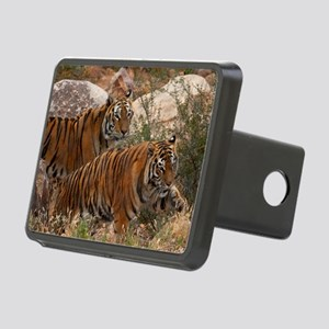 (4) Tigers Two Walking Rectangular Hitch Cover