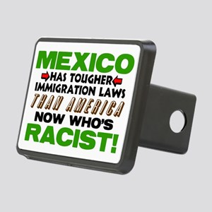 Now Whos Racist! Rectangular Hitch Cover