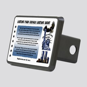 Lasting Sight blue done co Rectangular Hitch Cover