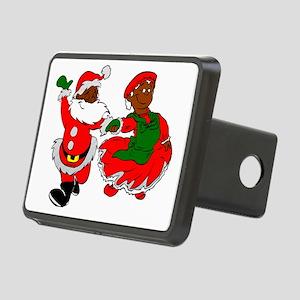 black santa mrs claus Rectangular Hitch Cover