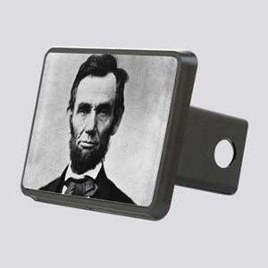 abe lincoln puzzle Rectangular Hitch Cover