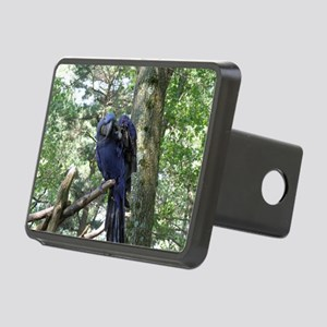 Blue Macaw in a Tree Rectangular Hitch Cover