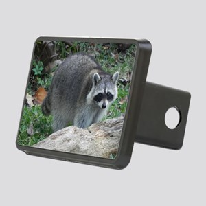 Fluffy Racoon Rectangular Hitch Cover