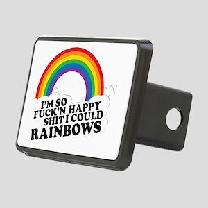 BIG Happy Rainbow, Im So F Rectangular Hitch Cover