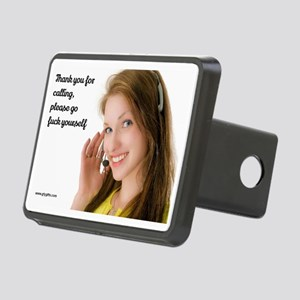 GFY Call Center Girl Rectangular Hitch Cover