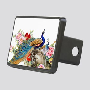 Traditional Chinese Peacoc Rectangular Hitch Cover
