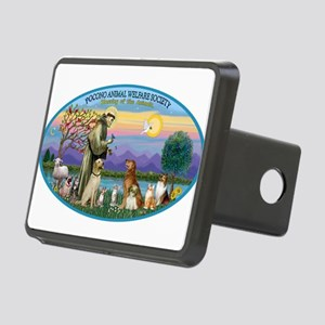 St Francis / dogs-cats Rectangular Hitch Cover