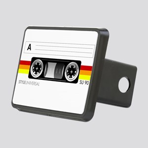Cassette tape label 2 Rectangular Hitch Cover