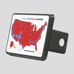 Trump vs Clinton Map Rectangular Hitch Cover