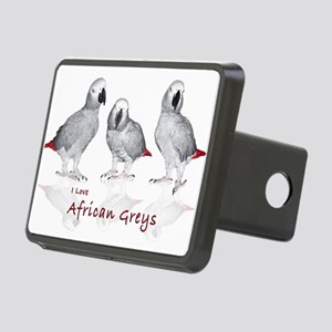 african grey parrots Rectangular Hitch Cover