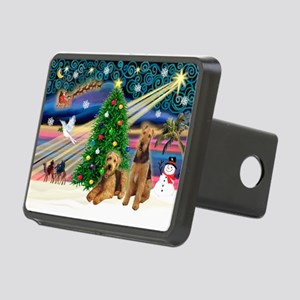 XmsMagic-AIREDALE pair Rectangular Hitch Cover