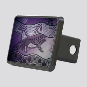 Aboriginal Purple Whale Rectangular Hitch Cover